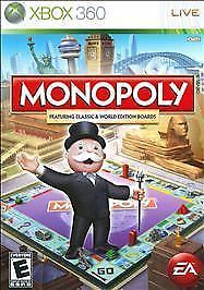Monopoly (Microsoft Xbox 360, 2008) Microsoft Streets Manual Case Disc tested