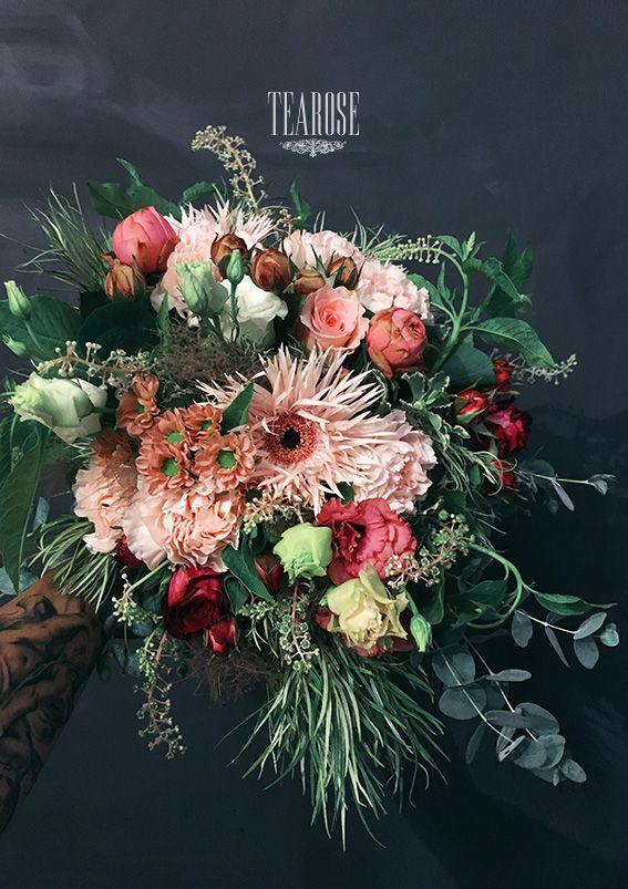 Vidékiesen romantikus virágcsokor