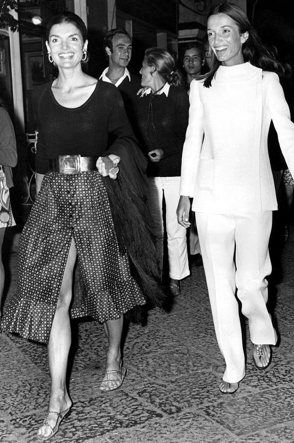 Jackie and Lee, 1971, in Capri , Italy.