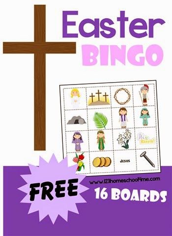 FREE Easter Bingo - printable game for Easter, Sunday school lessons with 16 different boards to choose from! Great for toddler, preschool, prek, kindergarten and 1st-6th grade kids.