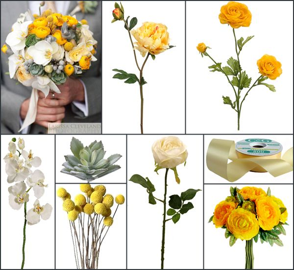 Yellow And Grey Wedding Flowers: 134 Best Yellow Wedding Flowers Images On Pinterest