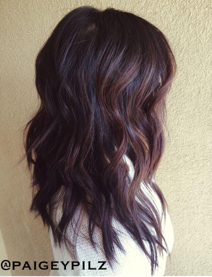 2015 hair trend short textured cut Brunette balayage
