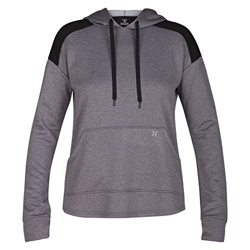 Hurley GFT0002990 Women's Dri-FIT United Fleece Hoodie  Dri-FIT Technology helps keep you dry and comfortable  Hood with adjustable drawcord for a custom fit  Shirt-tail hem allows you to move freely  Kangaroo pocket