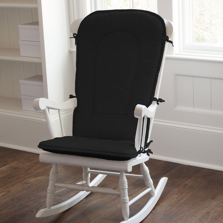 Rocking Chair Cushion in Solid Black by Carousel Designs.