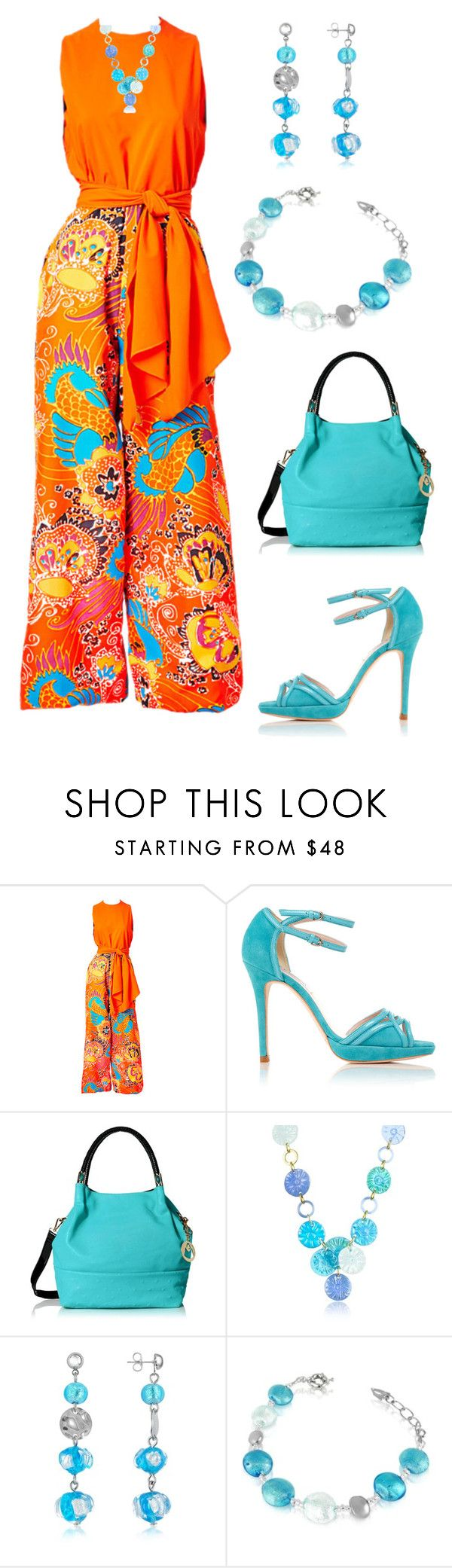 """Sin título #1315"" by marisol-menahem ❤ liked on Polyvore featuring L.K.Bennett and Antica Murrina"