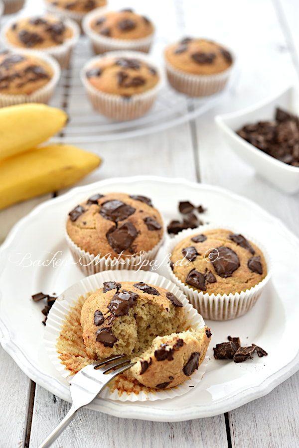 Glutenfreie Bananen Muffins Mit Schokostuckchen Rezept Rezept Schokostuckchen Bananen Muffins Muffins
