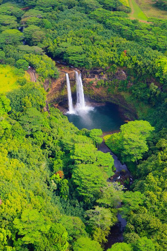 Wailua Falls, Kauai, Hawaii, United States