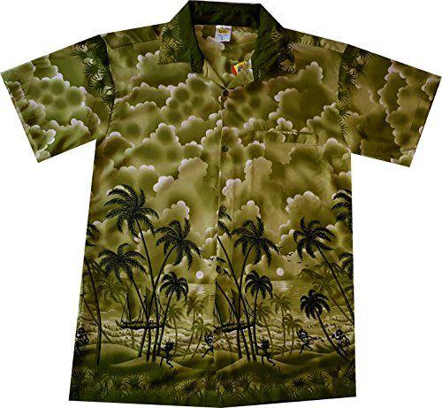 """Hawaiihemd """"Green Paradise""""  wie geschaffen für das Wunder-Paradies-Pulver www.happygreens.eu"""