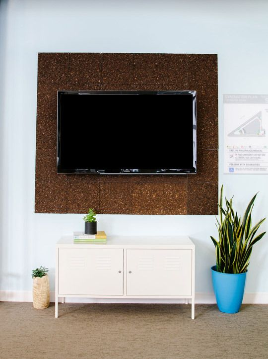 Using Cork to Warm Up and Frame the HDTV Final Frame | Apartment Therapy
