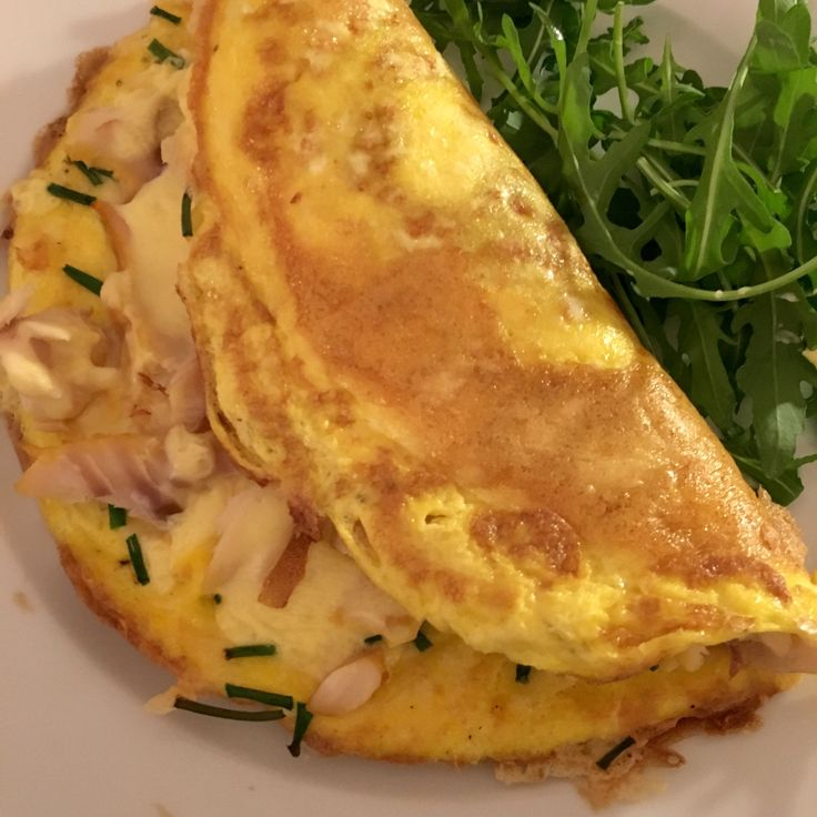 Smoked haddock, parmesan and creme fraiche omelette   everyday food