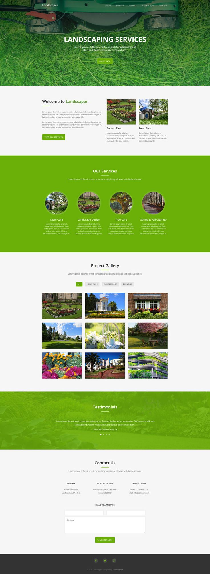 Landscaper - Free Landscaping Website Template