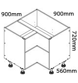 kaboodle flat pack kitchen 900mm corner base cabinet installation instructions