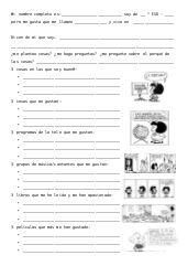 Ficha de conocimiento personal para los primeros días de clase. Juanfra Álvarez (Alcoi)