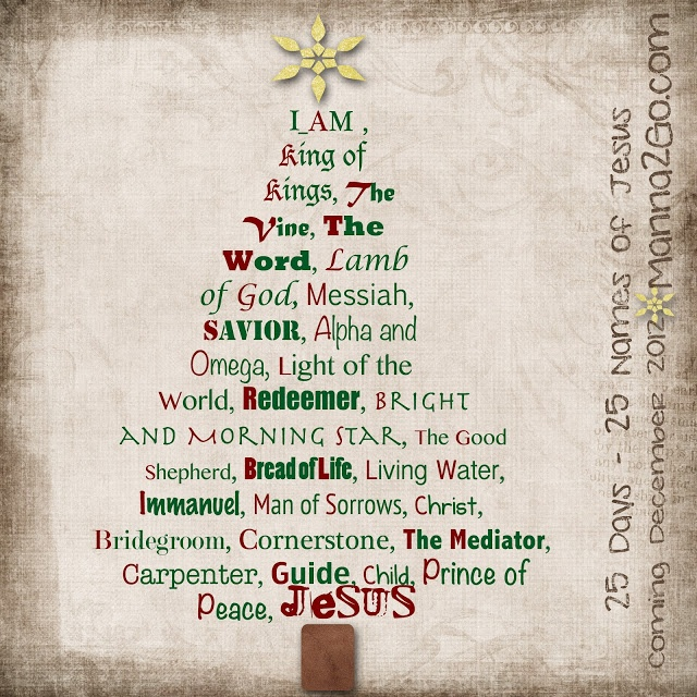 Religious Advent Calendar Ideas : Quot names of jesus online christmas bible study starts