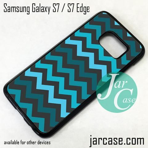 Blue Chevron Phone Case for Samsung Galaxy S7 & S7 Edge