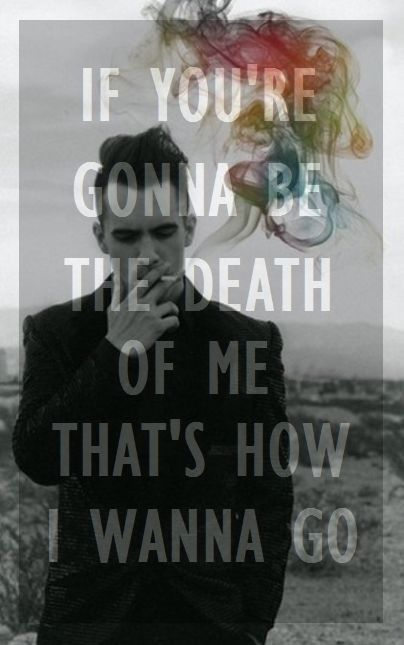 I got a collar full of chemistry from your company, so baby tonight just be... the death of me. Love this song!!