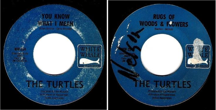"""The Turtles / You Know What I Mean (1967) / White Whale WW-254 (Single, 7"""") 45 #SunshinePop1960s"""
