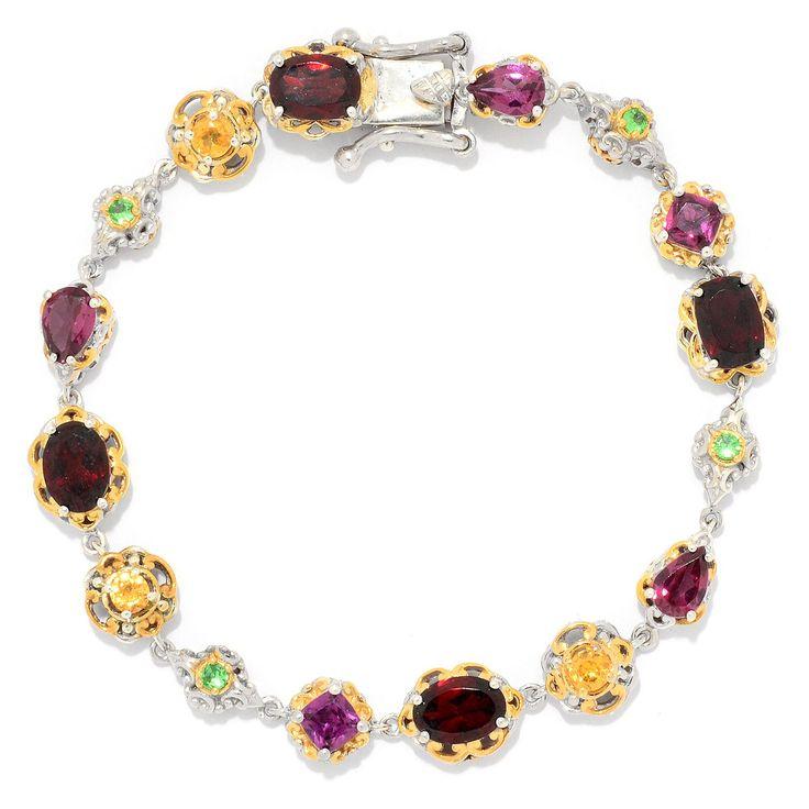 158-885 - Gems en Vogue Choice of Length Multi Color Garnet Tennis Bracelet