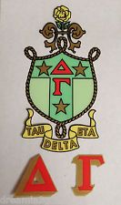 Delta Gamma 2-Pack of Inside Stickers (Crest/Letters)