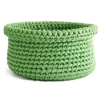 Free Pattern: Round and Oval Crochet Baskets