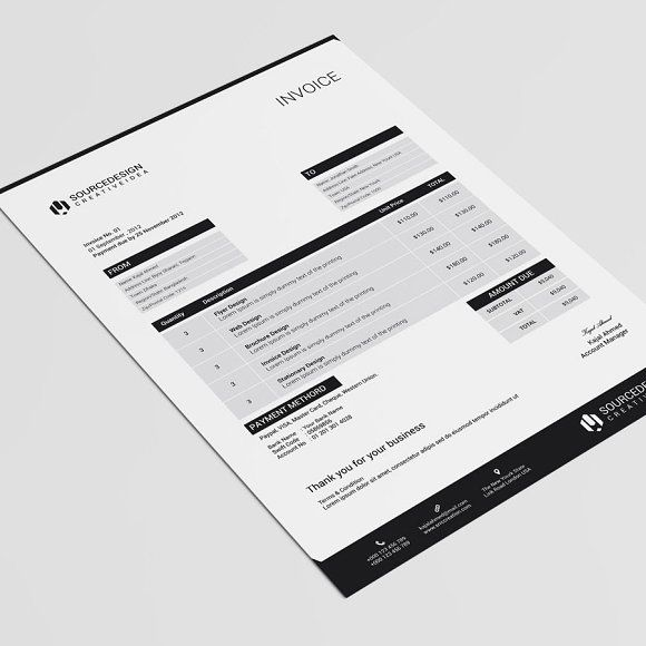29 best invoice images on Pinterest Invoice design, Brand - microsoft word quote template