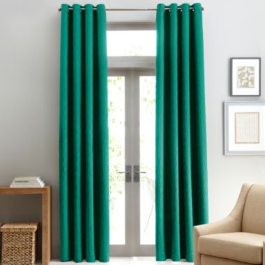 White Curtains Studio Luna Grommet Top Lined Blackout Curtain Panel Found At Jcpenney Home