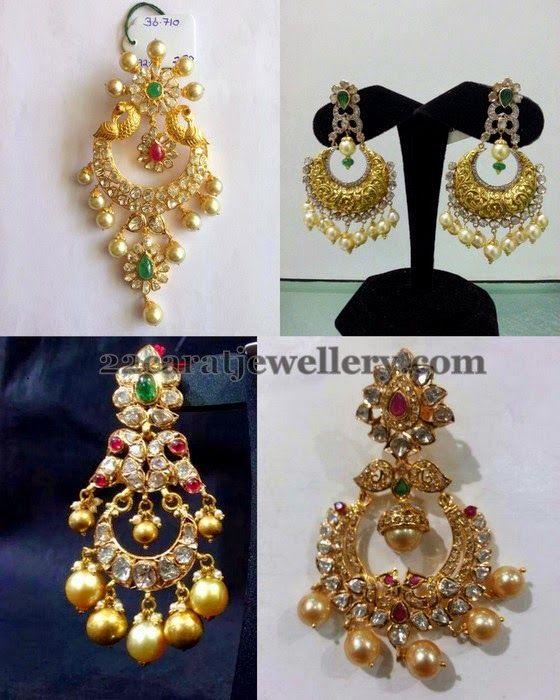 Jewellery Designs: 30Gms Chandbalis Collection