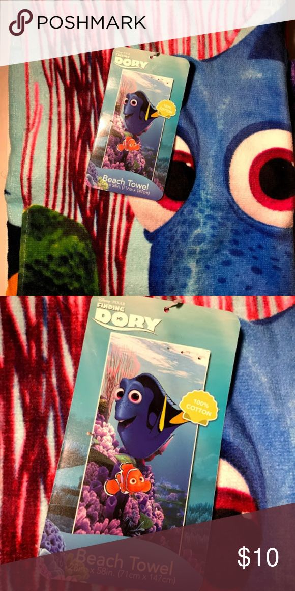 Disney Finding Dory Beach Towel NWT Nemo NEW Brand New with Tag  Disney Finding Dory Swim