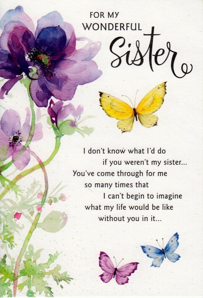 Hallmark Happy Birthday To A Wonderful Sister Greeting Card
