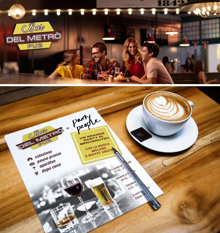#grafichenuovatipografia #grafiche #nuova #tipografia #bar #metro #logo #coordinamento #café #caffé #pub #loghi #party #flyer #volantino #presentazione #Concept