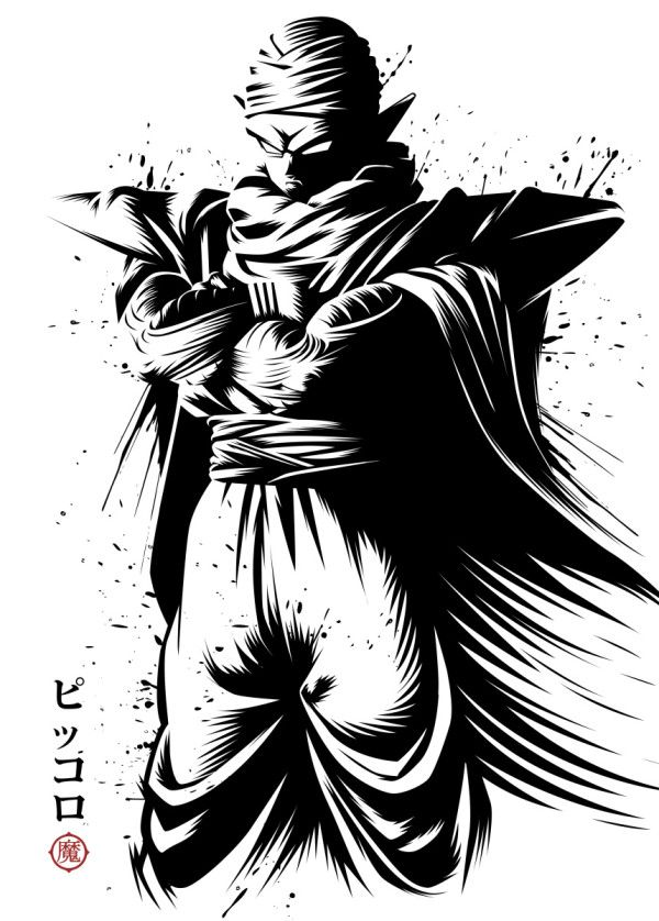 Piccolo Ink Poster Print By Alberto Perez Displate Dragon Ball Wallpapers Dragon Ball Super Manga Dragon Ball Artwork
