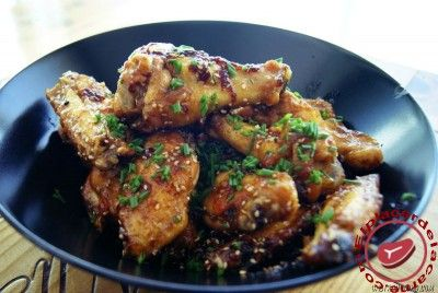 Alitas de pollo con miel y soja - Recetas de Carnes y Aves - Elplacerdelacarne