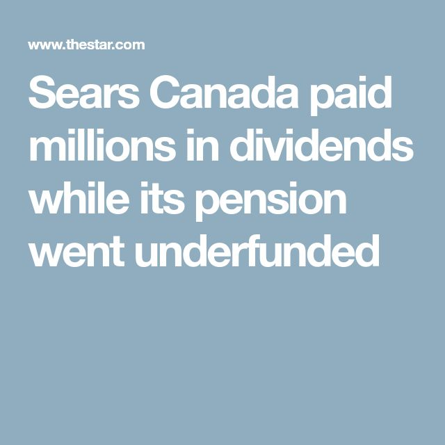 Now the former employees may end up paying the price. The Sears Canada failure once again exposed problems with defined benefit pensions, pension regulations and weaknesses in the federal acts governing bankruptcies and creditor protection applications that could affect more Canadians if fixes aren't made. In fact, pensioners are asking why fixes haven't been made yet, after the financial collapse of Nortel in 2009 left 20,000 pensioners in the lurch.