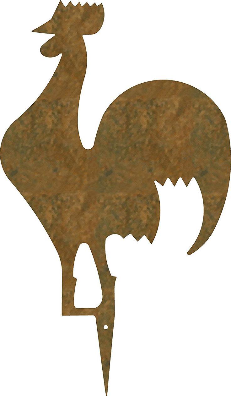 """Diseño de césped y jardín """"FUNKY"""" gallo-Gálibo acero CORTEN color RUGGINE. Producto artesanal en Italia.: Amazon.es: Jardín"""
