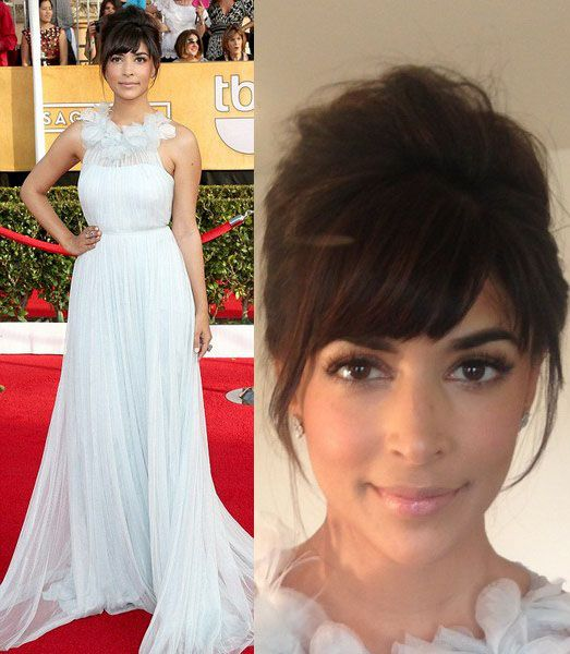 Hannah Simone looks adorbs on the red carpet at the SAG Awards. Her secret? Pixi by Petra!