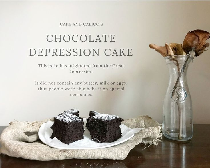 How to make chocolate depression cake like they used to make it during the Great Depression.