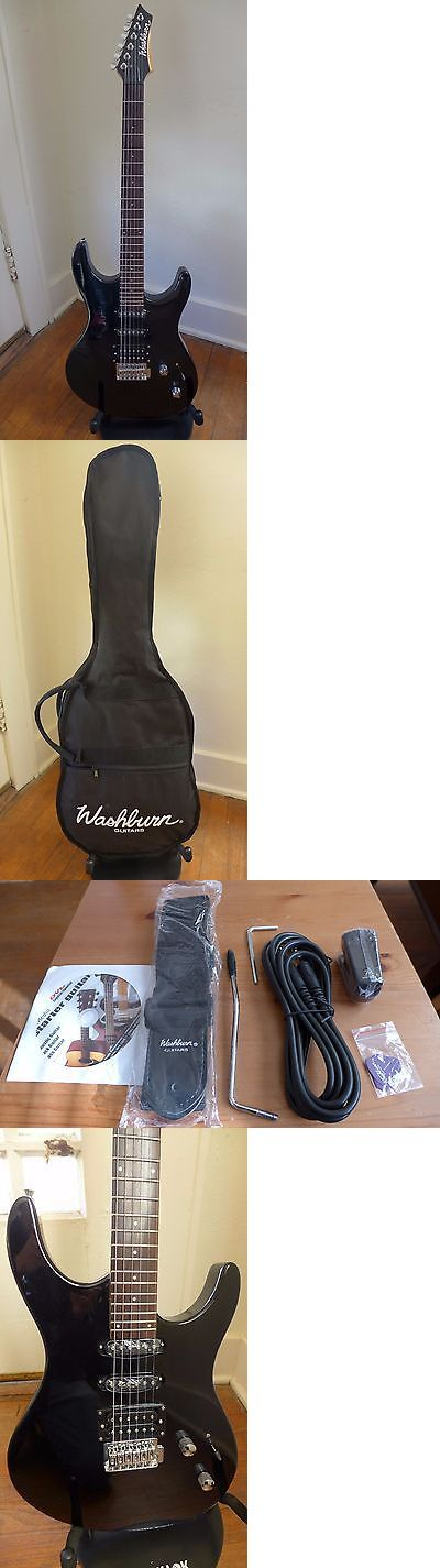 musical instruments: Washburn Rx10 Electric Guitar Starter Pack W/ Accessories - Black BUY IT NOW ONLY: $65.0