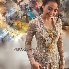 Instagram photo by verakebaya - @septriasaacha ...❤ ___ Kebaya by me ___ #fitting #kebaya #pengantin #weddingdress #lace #beads #swarovski #handmade #detail