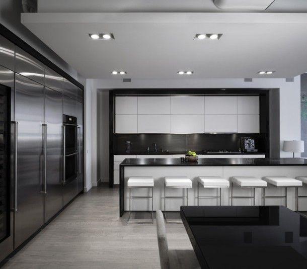 70 best Cuisine images on Pinterest Kitchen modern, Kitchen ideas - hauteur entre meuble bas et haut cuisine