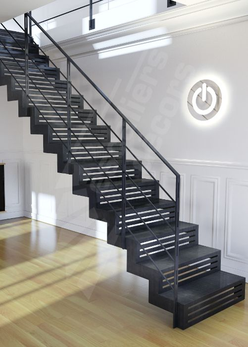 17 best images about escaliers on pinterest get started industrial and woo - Escalier interieur droit ...