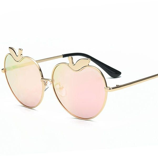 Women Classic Apple Shaped UV400 Protection Polarized Sunglasses Casual Colorful Lens Glasses at Banggood