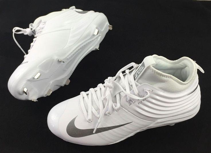 Nike Lunar Trout 2 Metal Baseball Cleats Mike Trout White Silver 9.5 807127-100