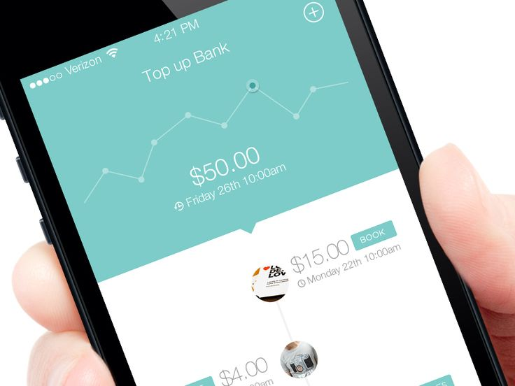 Inspiration - Sleek, simple design and timeline style usage to track your spending