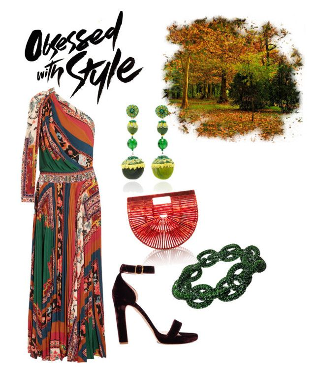 Obsessed With Style by roseleendsouza on Polyvore featuring polyvore, fashion, style, Etro, Rupert Sanderson, Cult Gaia, Plukka, Ranjana Khan and clothing
