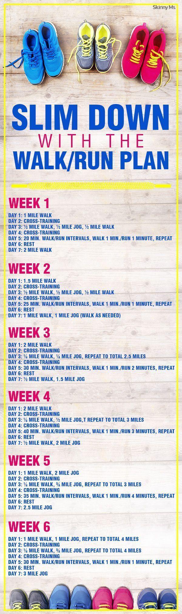 Slim Down with the Walk/Run Plan!  #walkrunplan #running