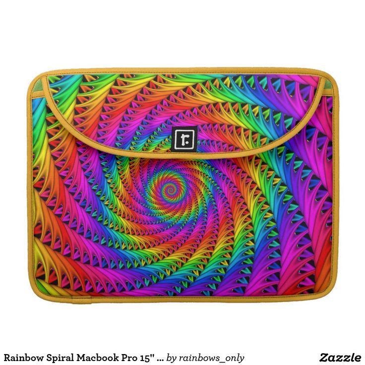 "Rainbow Spiral Macbook Pro 15"" Sleeve"