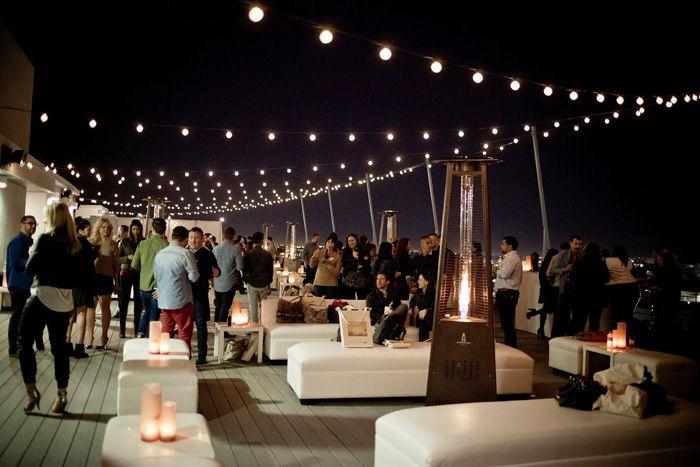 On Top Of The World: Rooftop Weddings - Photo Source: ink paper camera #rooftopweddings #uniqueweddingvenues #reception