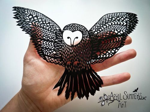Owl Papercut Template to make your own papercut