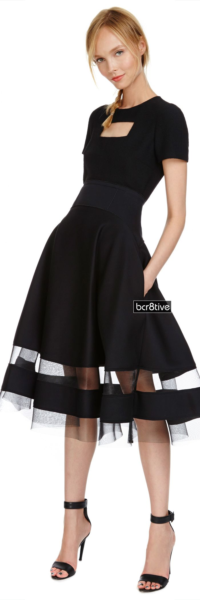 Donna Karan -- Sculpted Bonded Jersey Circle Skirt - Ships Now from Moda