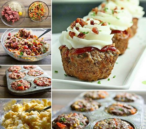 This is one dinner treat the kids are bound to eat! Get the recipe for these Meatloaf Cupcakes now.